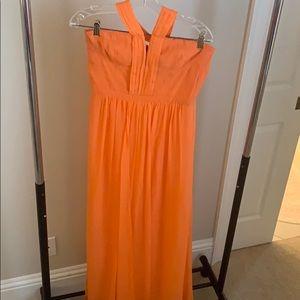 BCBG tangerine full length gown